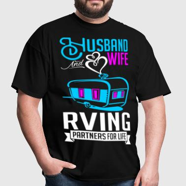 Husband And Wife RVing Partners For Life - Men's T-Shirt