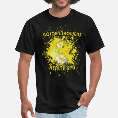 Foreplay Sexy Golden Showers Health Spa V2 - Men's T-Shirt