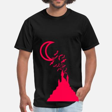 Haunted Castle Haunted Bat Castle - Pink - Men's T-Shirt