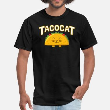 Palindromes Cute TacoCat - Men's T-Shirt