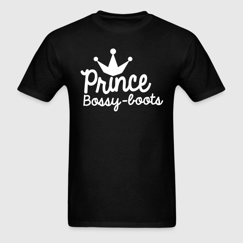 PRINCE bossy boots with royal crown - Men's T-Shirt