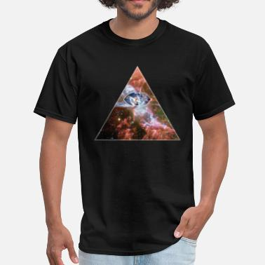 Hipster Cosmic Triangle - Men's T-Shirt
