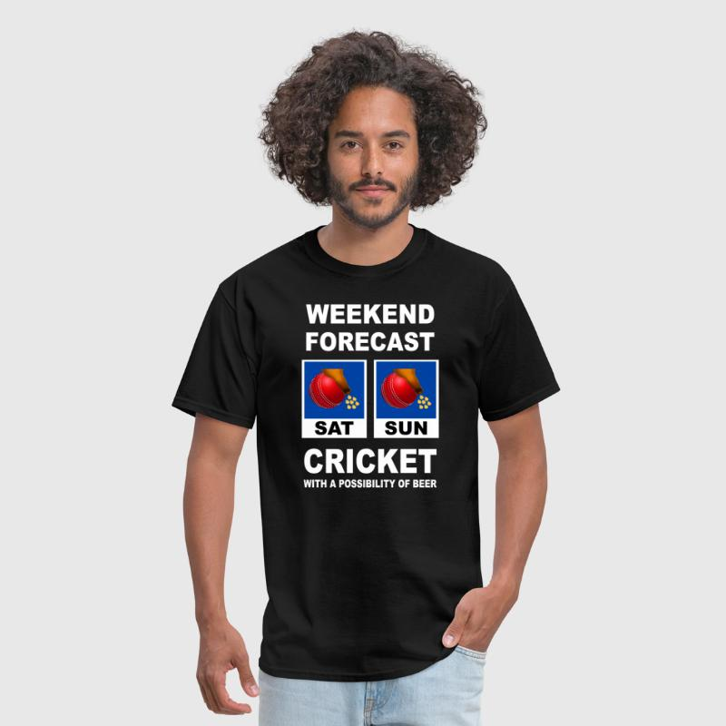 Cricket Funny Weekend Forecast - Men's T-Shirt