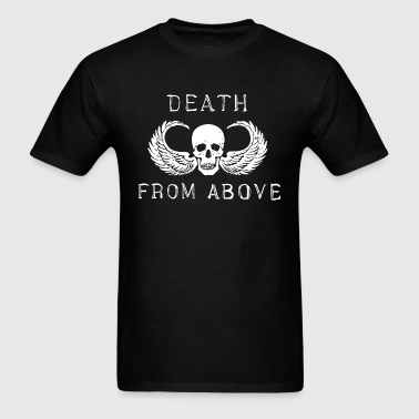 death from above skull wing biker airborne vietnam - Men's T-Shirt