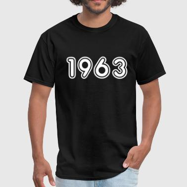 1963, Numbers, Year, Year Of Birth - Men's T-Shirt
