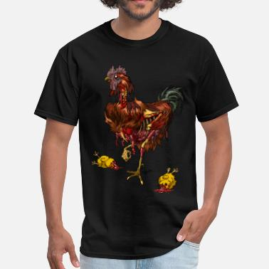 Zombie Chicken Rooster zombie - Men's T-Shirt