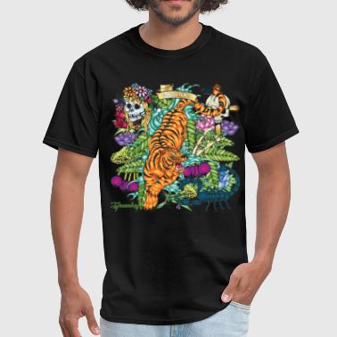 Greenboy Tiger Tattoo - Men's T-Shirt