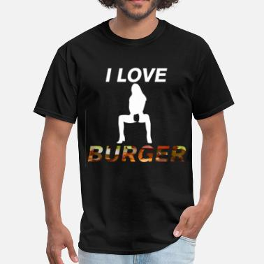 Vagina I Love Burger - Men's T-Shirt