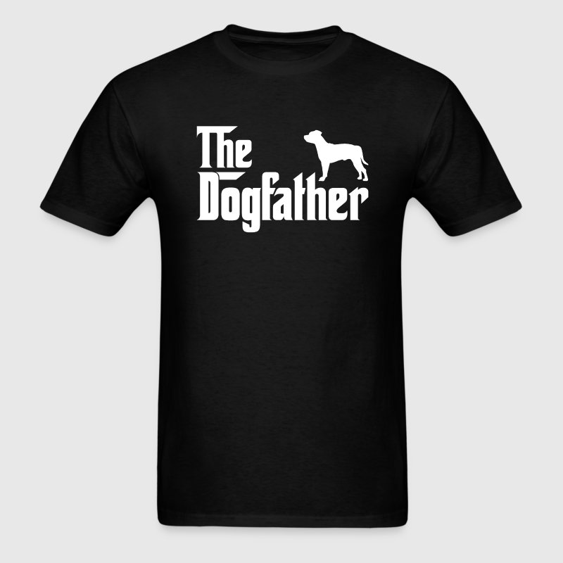 Staffordshire Bull Terrier DogFather T-Shirt - Men's T-Shirt