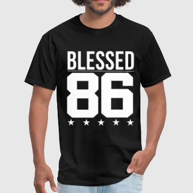Bible Verse Blessing Blessed 1986 Bible Verse Quote Birthday Greeting - Men's T-Shirt
