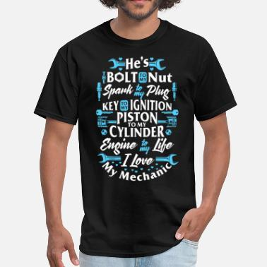 he is bolt to my nut sparl to my plug dad t shirts - Men's T-Shirt