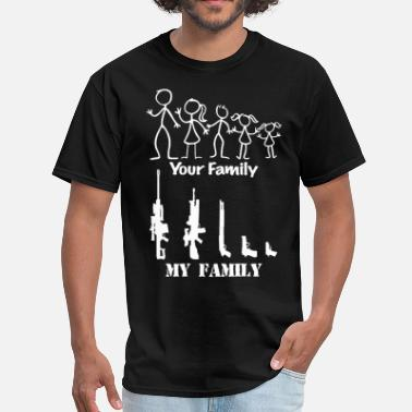 Polity Second Amendment My Family Guns Rights Laws Politi - Men's T-Shirt