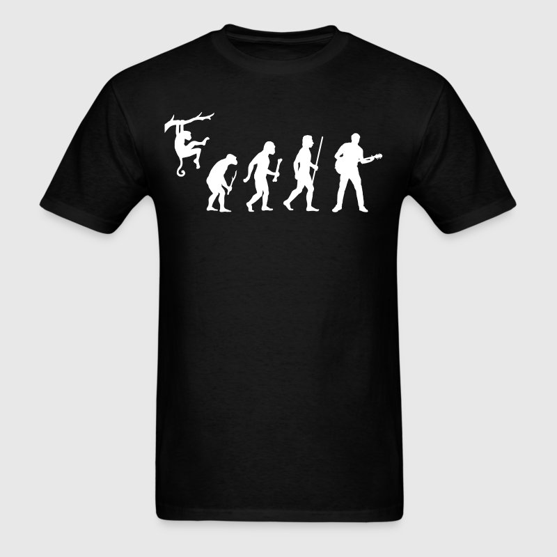 Evolution Man Guitar - Men's T-Shirt