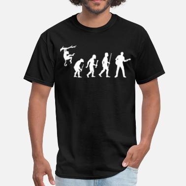 Playing Guitar Evolution Man Guitar - Men's T-Shirt