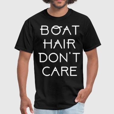Matching Couple Apparel Boat Hair Don t Care Ladies Racerback Tank Top Cr - Men's T-Shirt
