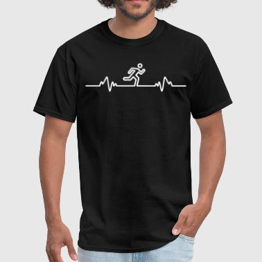 Vegan Pulse Running Heart Beat Pulse Jogging Run Jogger Runner - Men's T-Shirt