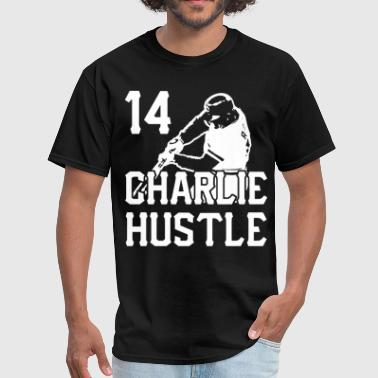Charlie Hustle mens funny baseball cincinnati vint - Men's T-Shirt