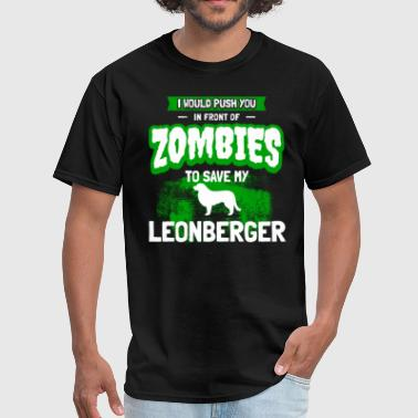 Leonberger Dog Owner Cool Zombie Apocalypse Gift - Men's T-Shirt