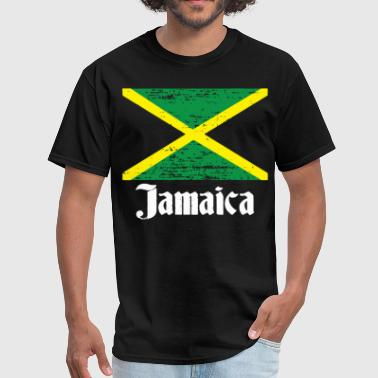 Distressed Jamaican Country Flag Jamaica Pride Jam - Men's T-Shirt