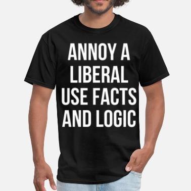 Yao Ming Meme annoy a liberal use facts and logic meme t shirts - Men's T-Shirt