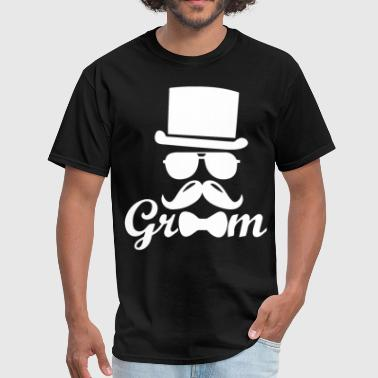 Groom Sign Groom gift from bride groom groomsmen gift bride a - Men's T-Shirt