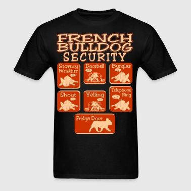 French Bulldog Dog Security Pets Love Funny Tshirt - Men's T-Shirt