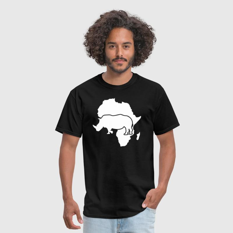 Africa Map Rhino - Men's T-Shirt