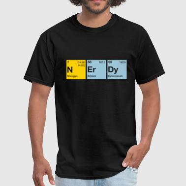 Nerdy Periodic Table Nerdy Periodic Table Word - Men's T-Shirt