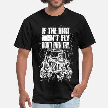 Offroad Vehicles UTV Racer Dirt Fly Wht - Men's T-Shirt