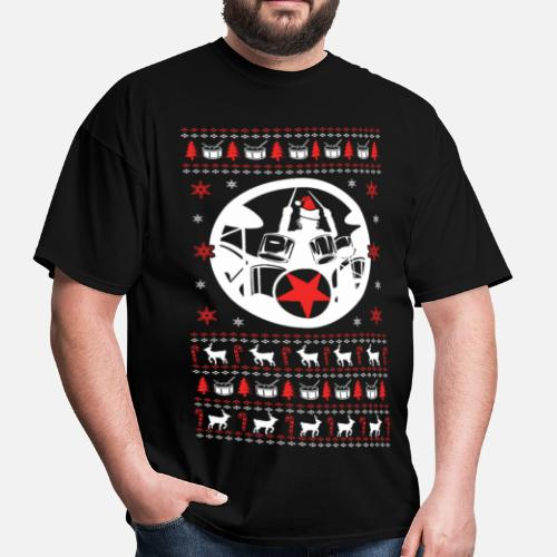 Drummer Ugly Christmas Sweater Men s T-Shirt  bc7baa492