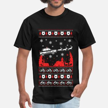Police Officer Police - Police officer Ugly Christmas Sweater - Men's T-Shirt