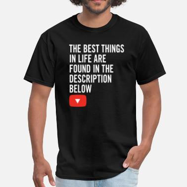 Youtube-creators YouTuber Quote - Men's T-Shirt