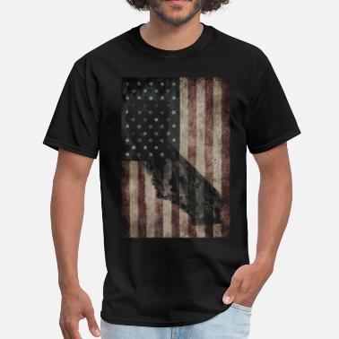 Vintage California California USA Flag - Men's T-Shirt