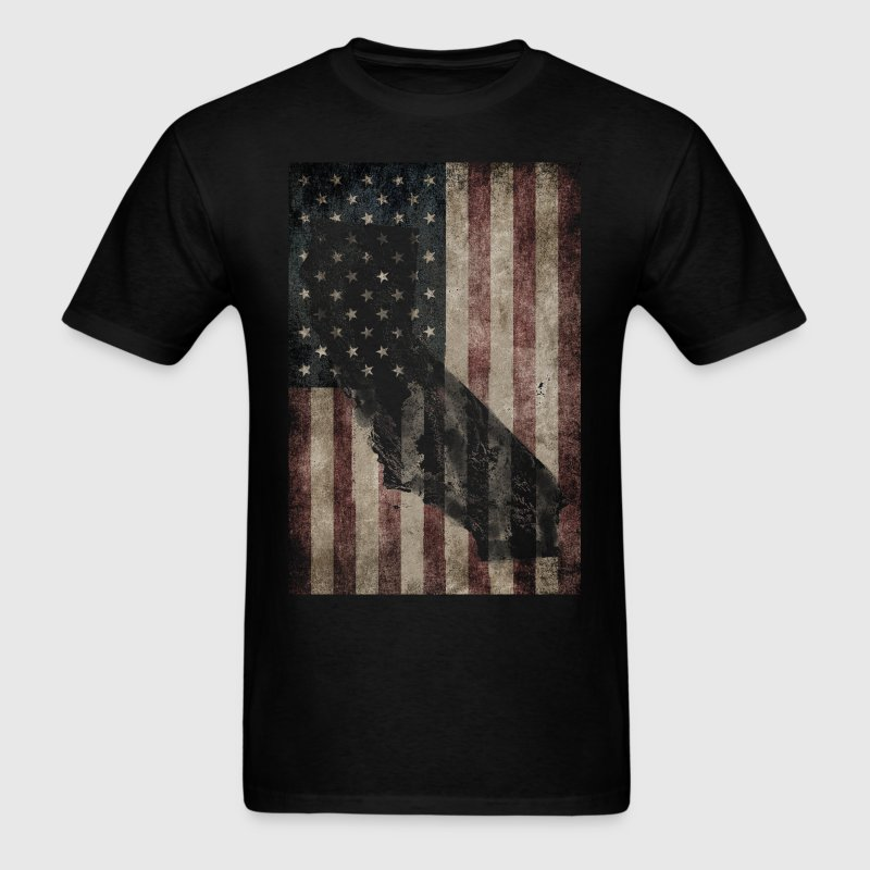 California USA Flag - Men's T-Shirt
