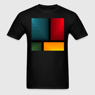 Blue Red Yellow Green Abstract - Men's T-Shirt