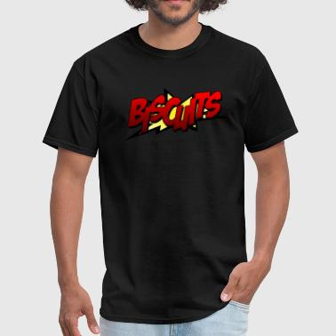 Biscuit Biscuits bat-fight comic pop-out - Men's T-Shirt