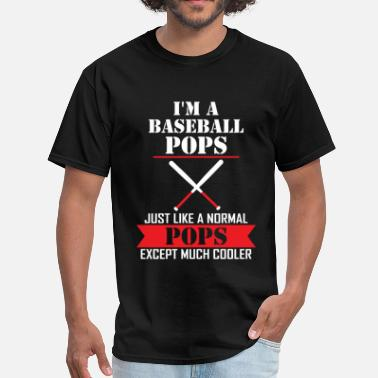 Baseball Glove I'M A Baseball Pops Just Like A Normal Pops Excep - Men's T-Shirt