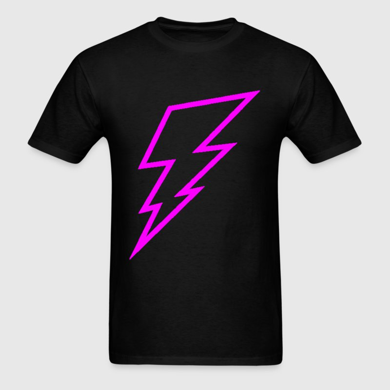 Pink Lightning Bolt - Men's T-Shirt