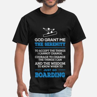 Kite Boarding Go Boarding - Serenity, courage and the wisdom - Men's T-Shirt