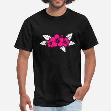 fa1e97c6389b07 Hawaiian Floral Hawaiian Flower Floral Design - Men's T-Shirt