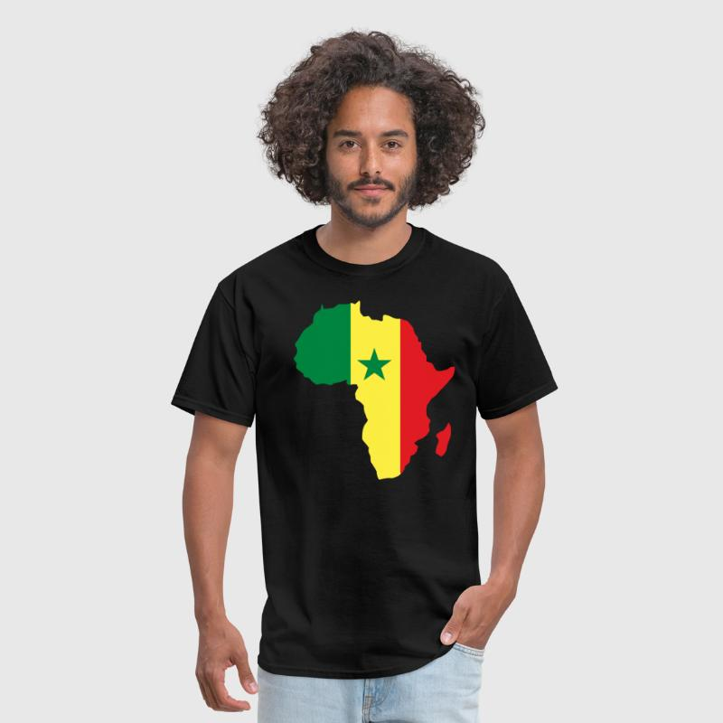 Senegal Flag Africa Map T-Shirt - Men's T-Shirt