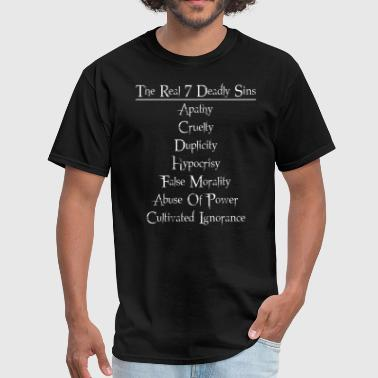 Humanistic 7 Deadly Sins - Men's T-Shirt