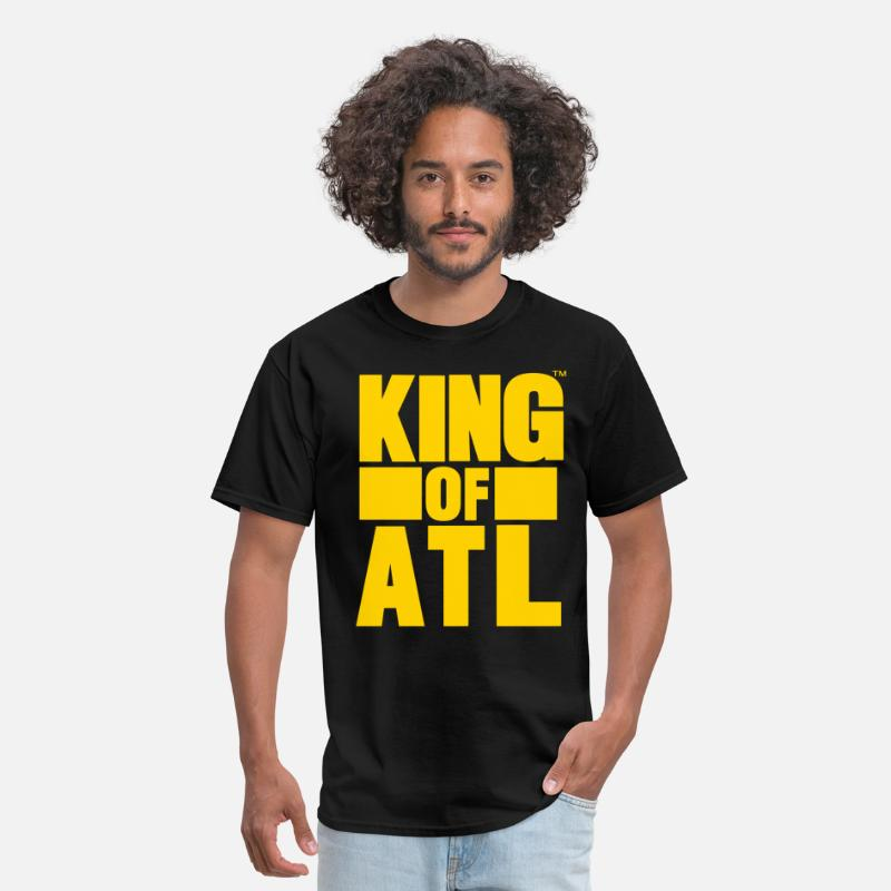King T-Shirts - KING OF ATL (ATLANTA) - Men's T-Shirt black