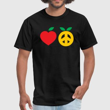 Apple Joke Apple and Orange - Men's T-Shirt