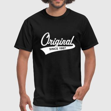 Original Since 1987 (Year Of Birth, Birthday, 1C) - Men's T-Shirt