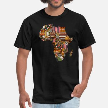 Africa Map African Pattern - Men's T-Shirt