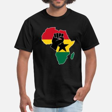 Ghana Designs Ghana flag t-shirt design - Men's T-Shirt