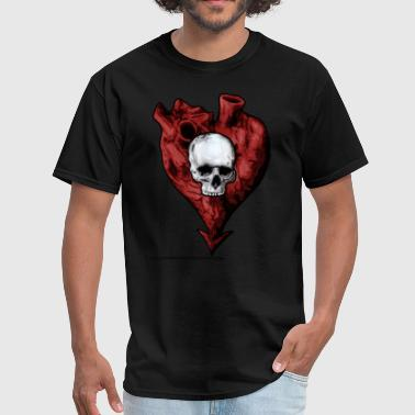 heart and skull - Men's T-Shirt
