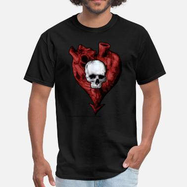 Skull Heart heart and skull - Men's T-Shirt
