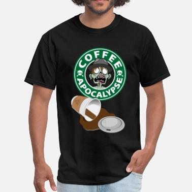 Hipster Coffee The Coffee Apocalypse Hipster Guy - Men's T-Shirt